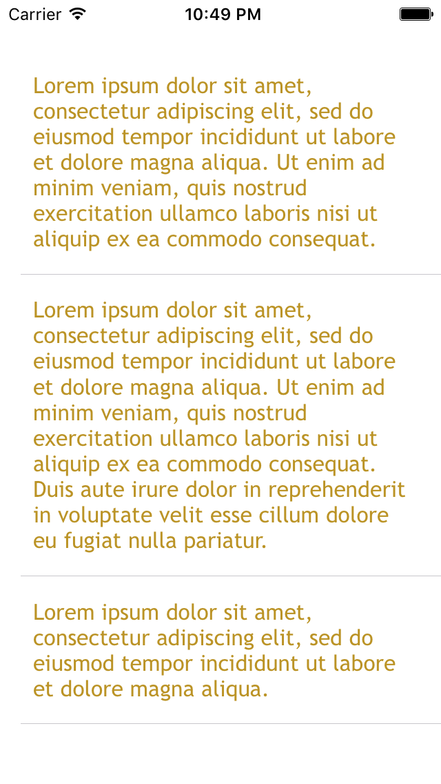 iOS Application Development Related : Swift 3 UITableView Dynamic