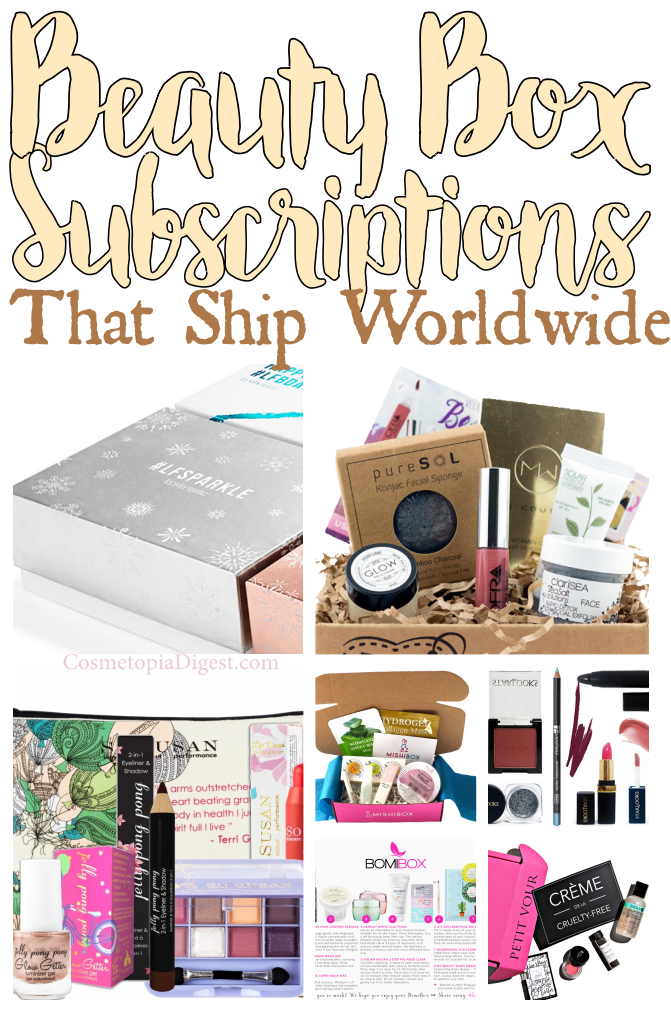 Monthly beauty box subscriptions that ship worldwide.