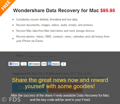 Wondershare Data Recovery for Mac Giveaway