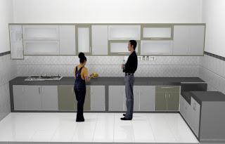 furniture semarang - desain kitchen set minimalis pintu kaca engsel hidrolis 01