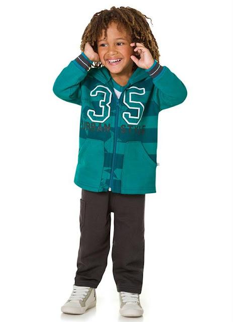conjunto com jaqueta de menino