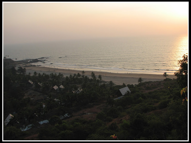 Vagator Beach from Chapora Fort