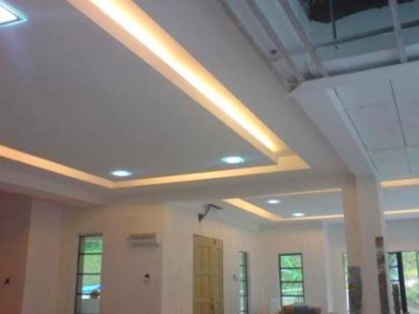 Membina & Meyiapkan Siling Plaster Berlampu Rumah Banglo Kota Bharu