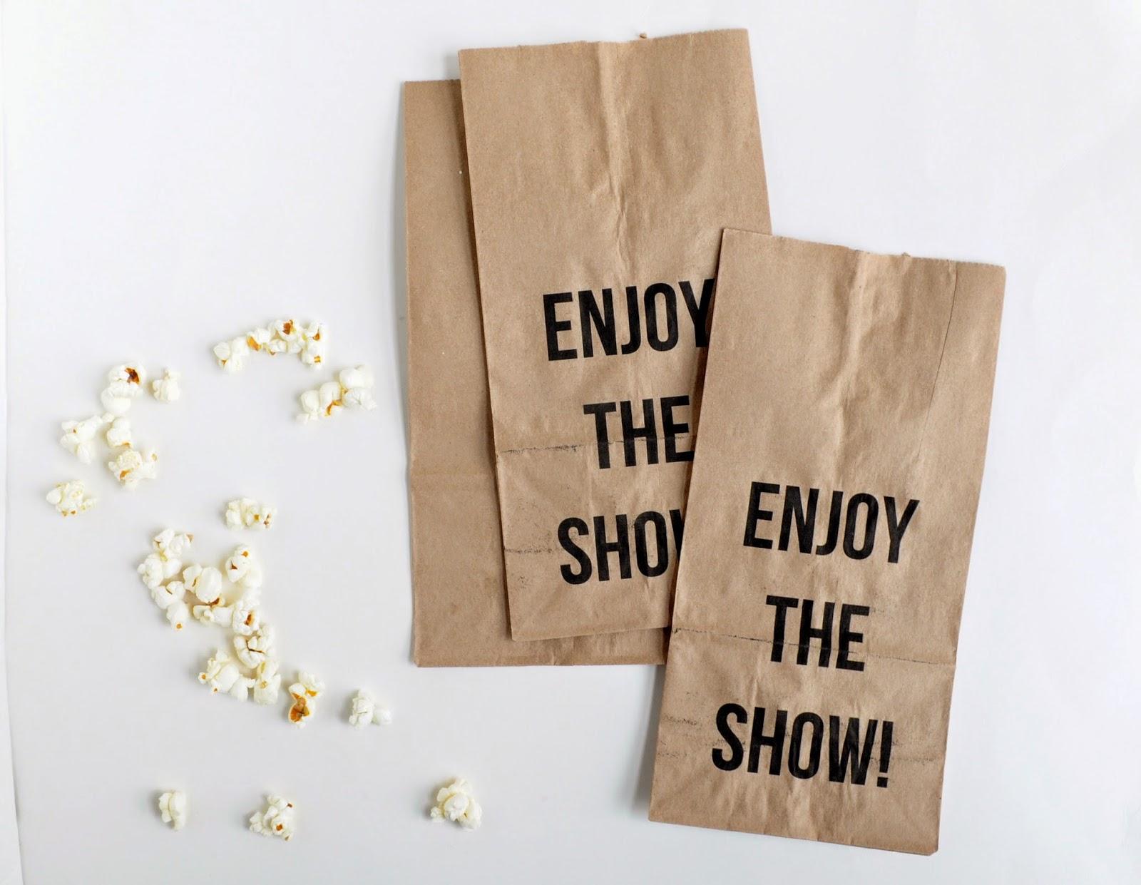 image regarding Popcorn Bag Printable called do it yourself: printable video clip night time popcorn luggage