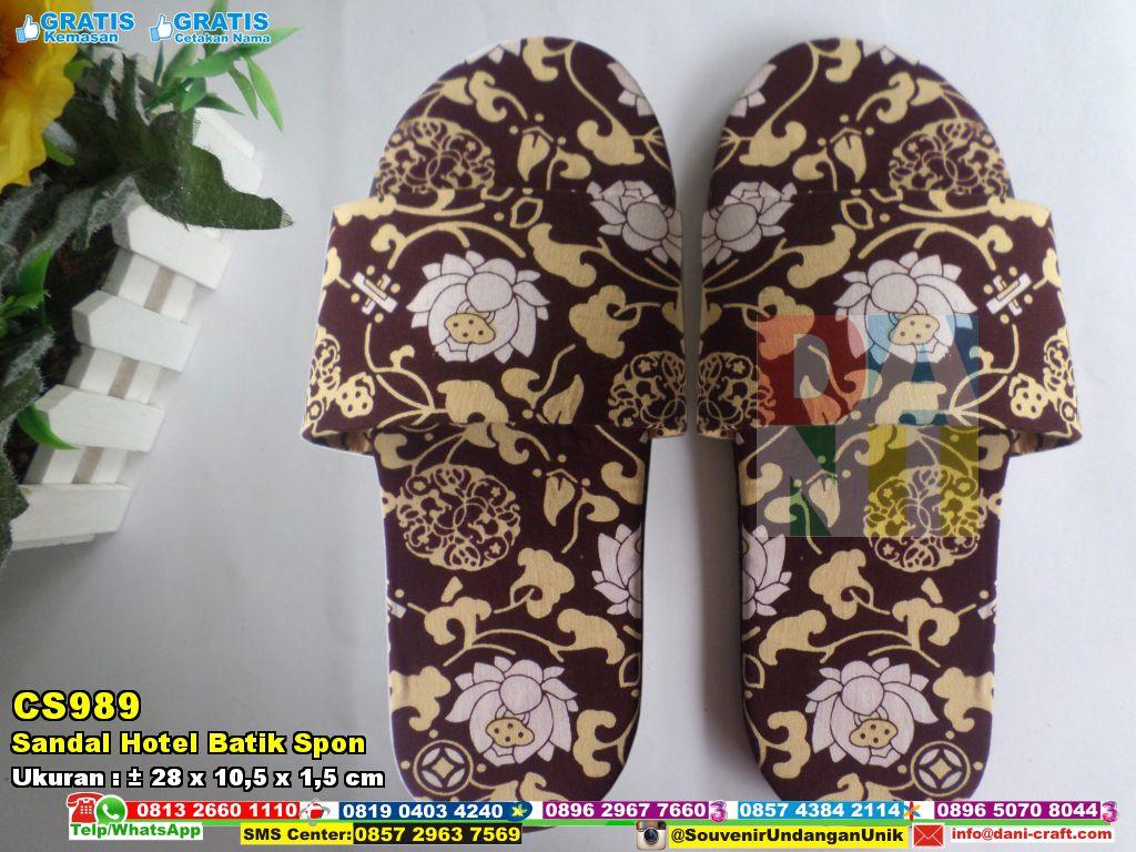 Sandal Hotel Batik Spon | Souvenir Pernikahan