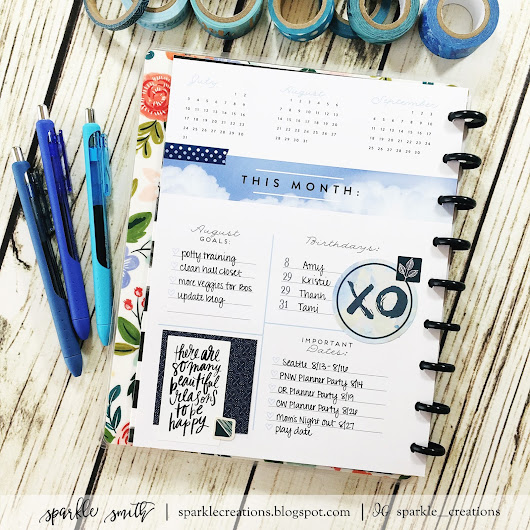 Planner Stamping: August 2016 Dashbord and Monthly
