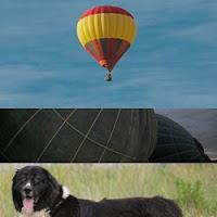 balão acidentado após queda