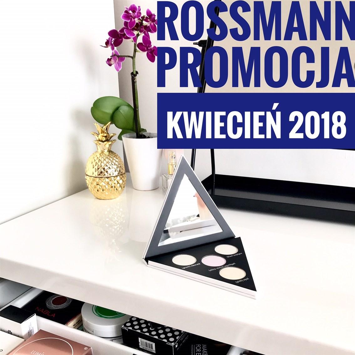zdjęcie informujące o promocji w Rossmannie -49 procent i -55 procent na kolorówkę w kwietniu 2018