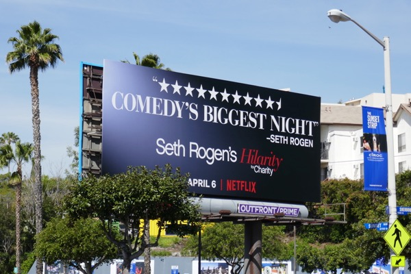 Seth Rogen Hilarity for Charity Netflix billboard