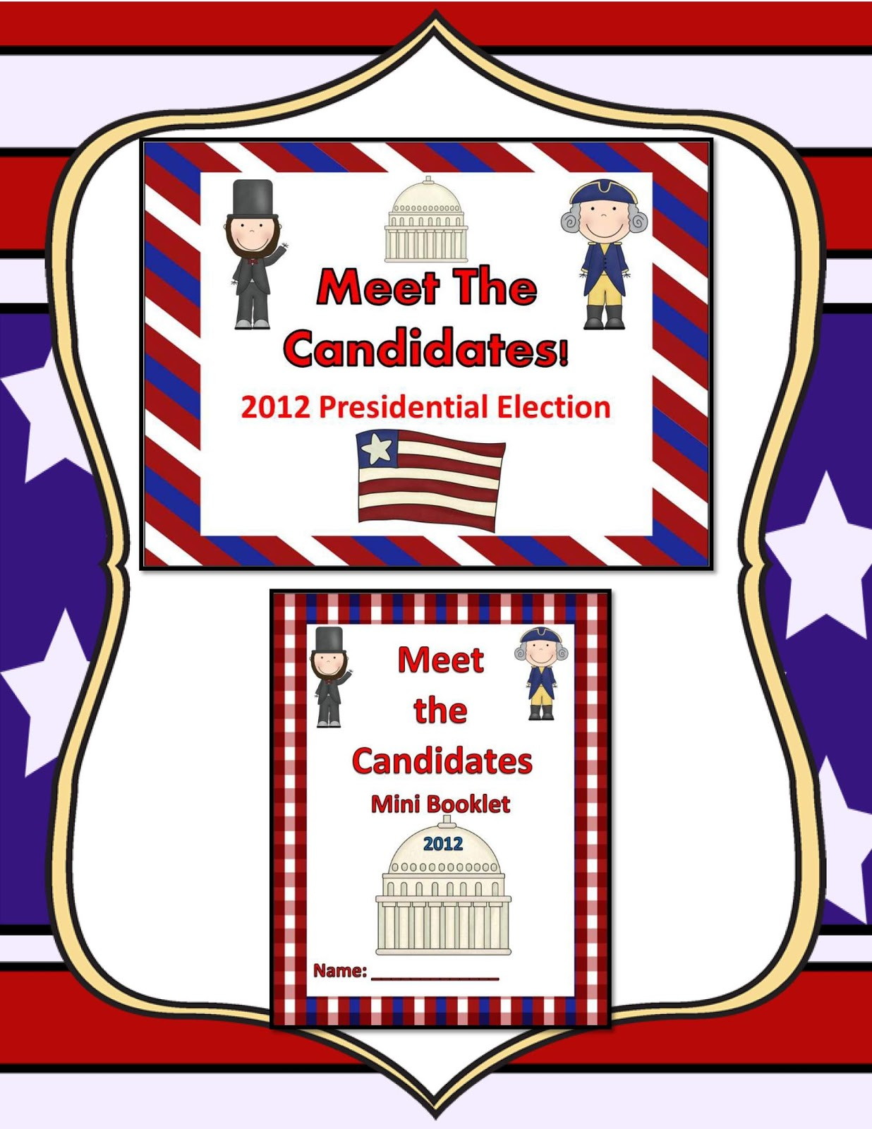 Little Miss Middle School Presidential Election Activity Booklet