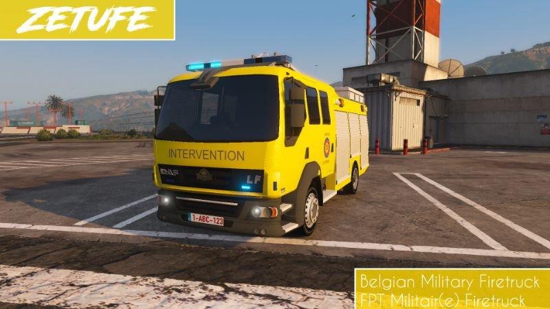 MODS Gta V: 22-Belgian Military Fire Truck