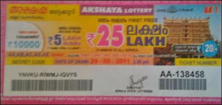 Kerala lottery ticket results  bhagyanidhi ticket lottery results