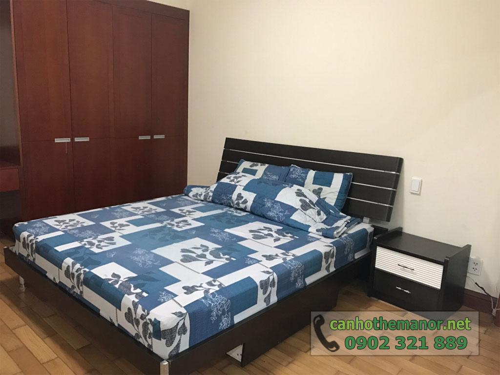 Căn hộ 38m2 nội thất đẹp cho thuê The Manor 2 HCM - giường ngủ