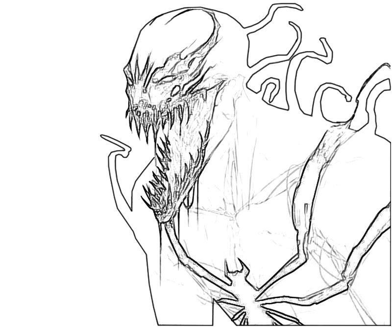 Venom Coloring Pages Printable | 667x800