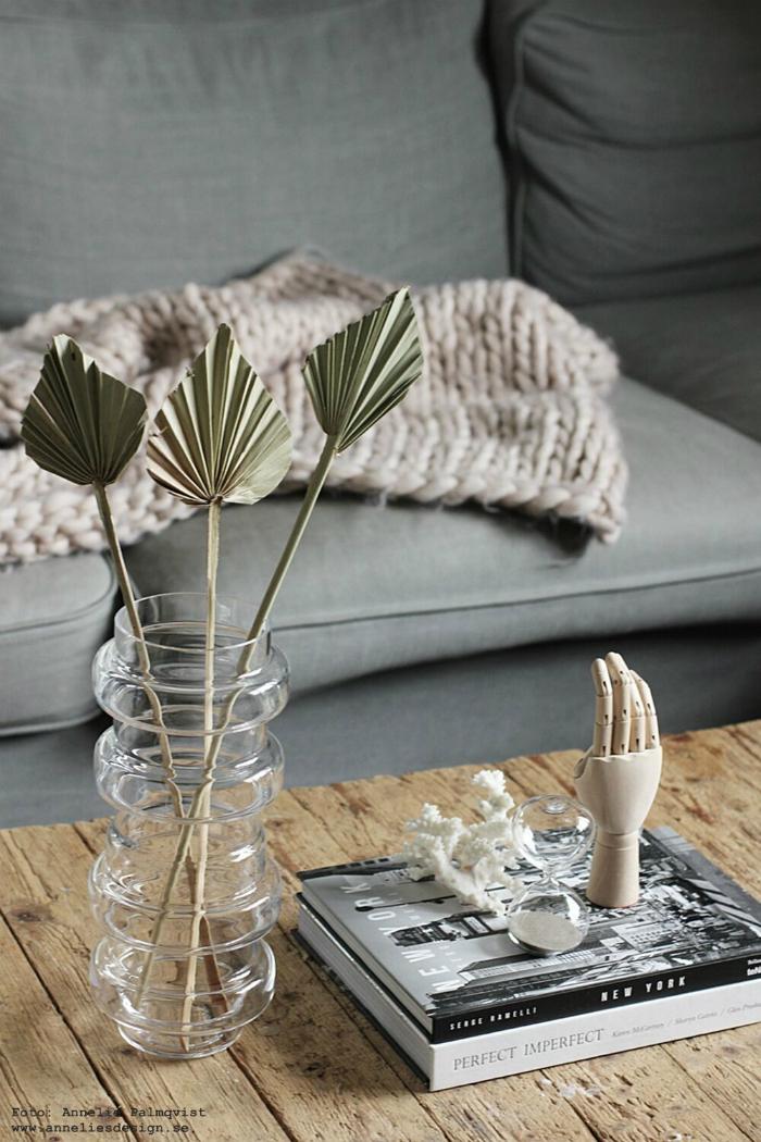 palmblad, annelies design, timglas, vardagsrum, webbutik, vas, vaser, webbutiker, inredning,