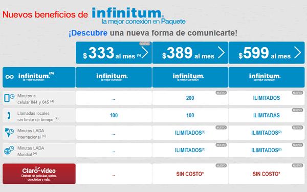 paquetes infinitum 2015
