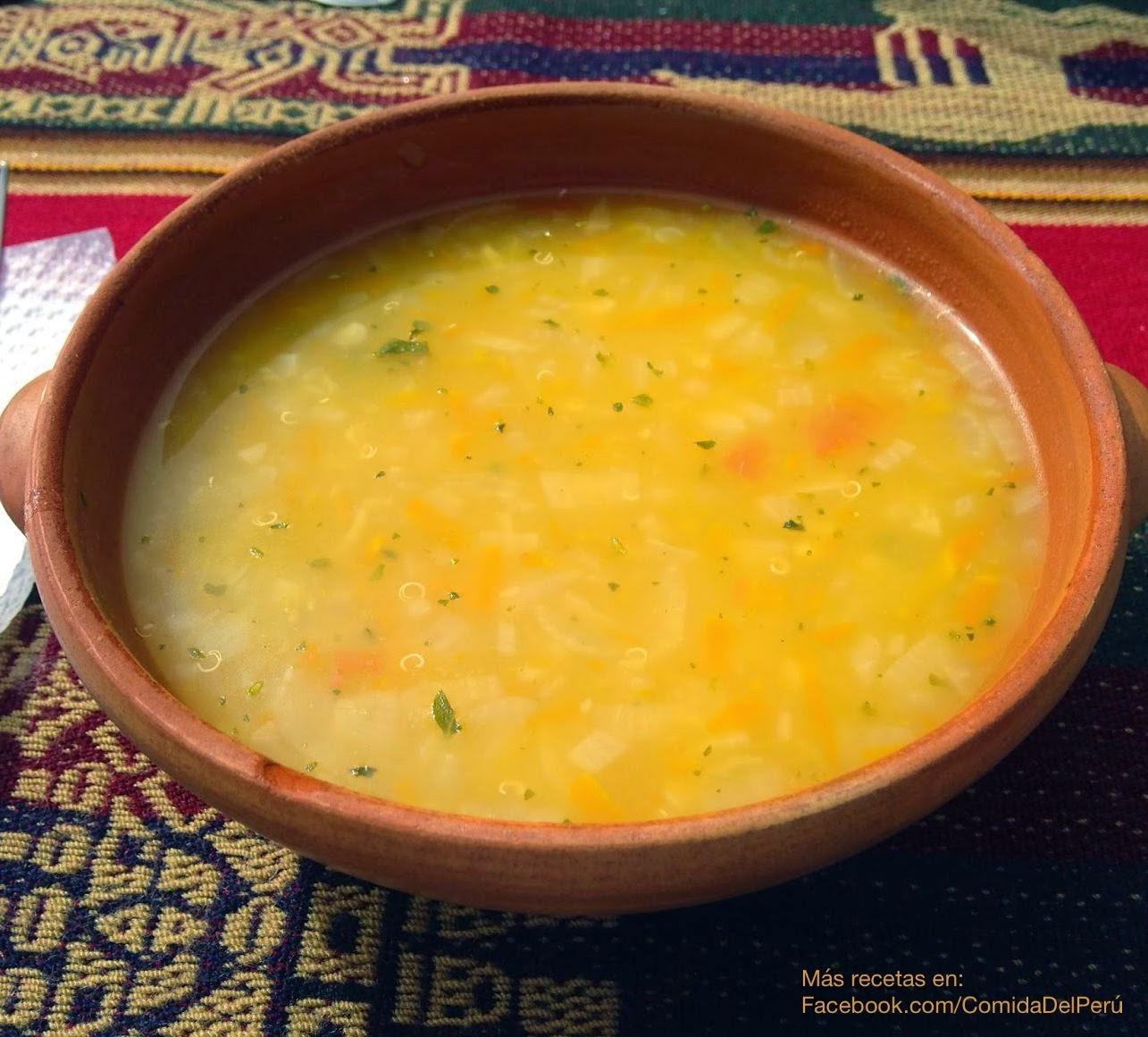 sopa de dieta peruana