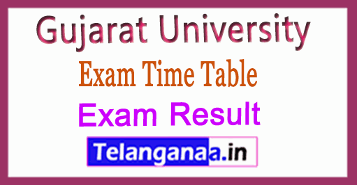 Gujarat University B.Com  Exam Time Table