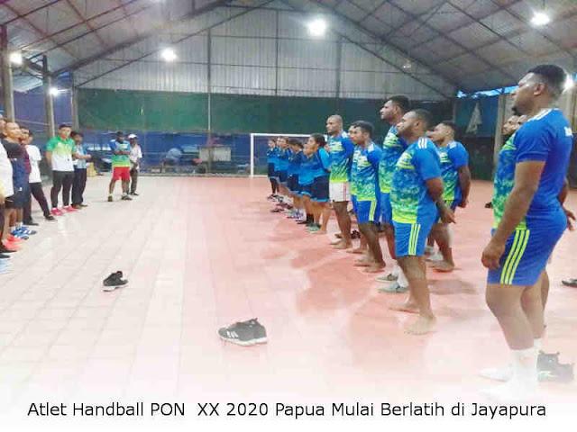Atlet Handball PON XX 2020 Papua Mulai Berlatih di Jayapura