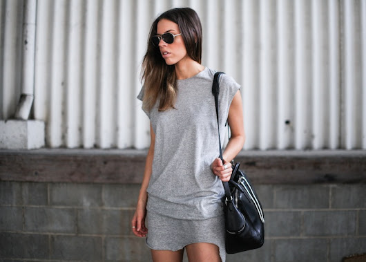the perfect gray dress. . .
