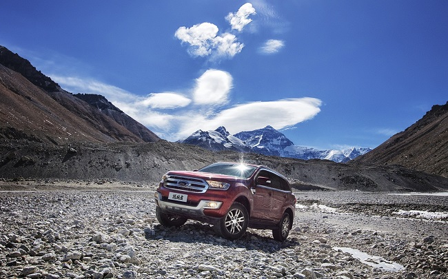 New Ford Everest launches at Everest Base Camp