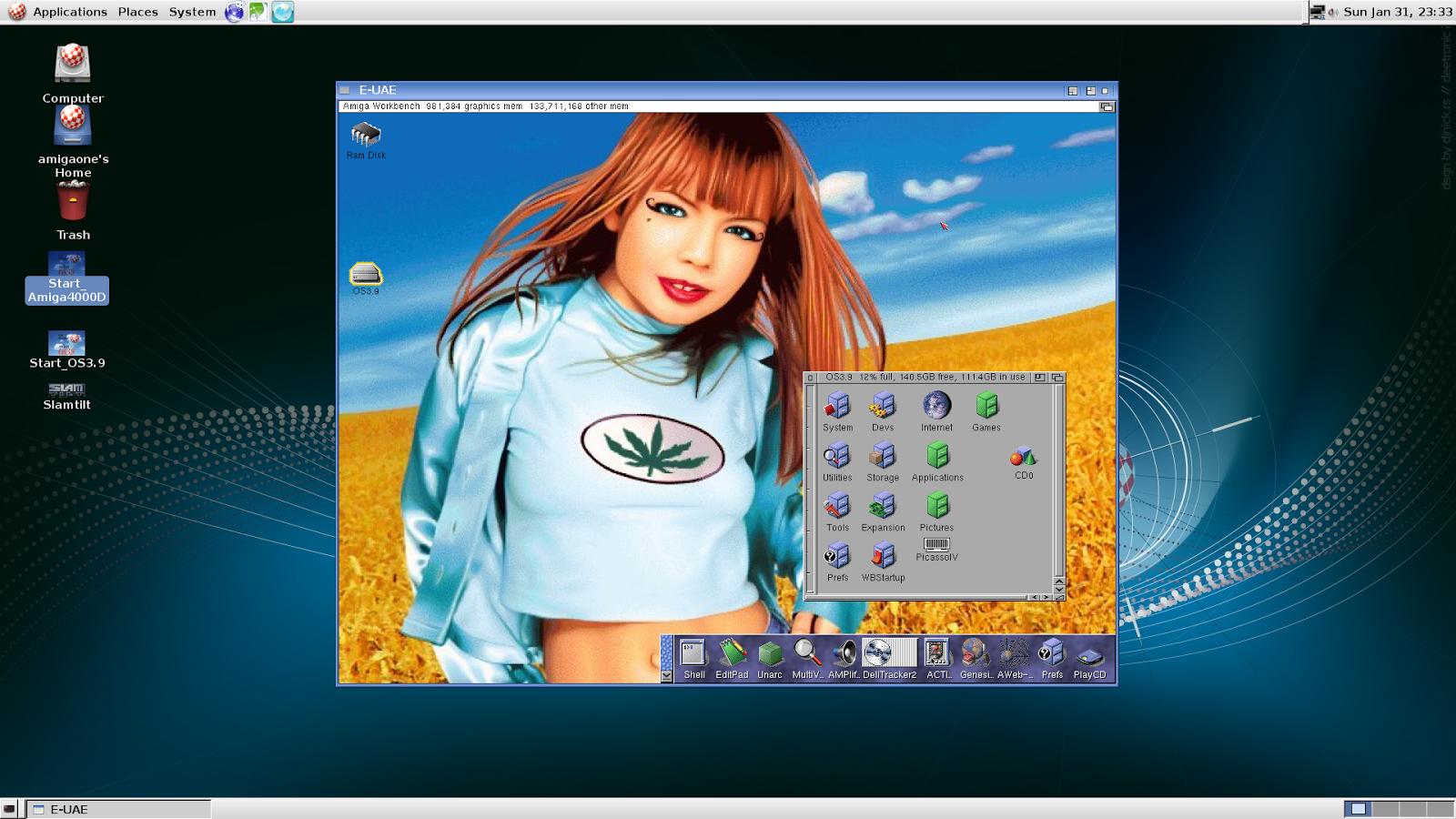 Epsilon's Amiga Blog: Classic Amiga emulation on AmigaOne A1222