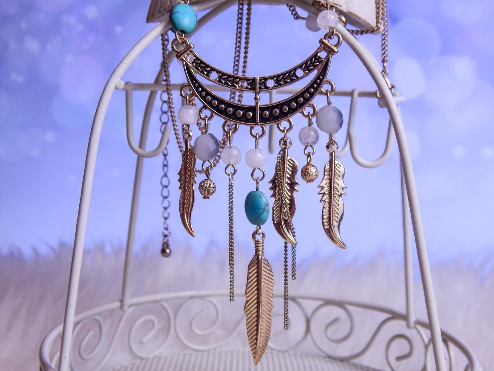 9 Biżuteria z chińskich sklepów sammydress kolczyk nausznica naszyjnik wisiorki z kryształkiem świąteczna biżuteria ciekawe dodatki stylowe zegarki pióra choker chokery złoty srebrny złoto srebro obelisk