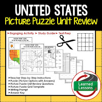 United States, World Geography Picture Puzzle BUNDLE, Test Prep, Unit Review, Study Guide