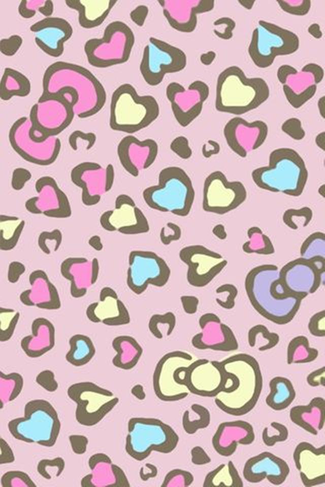 Cute Doodle Wallpaper Hd Gallery Pink Cheetah Hello Kitty Wallpaper