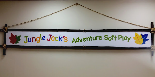 Jungle Jacks soft play sign Newcastle Eldon Square