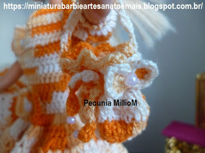 Vestido dA Bela e a Fera em Crochê Para Bonecas Passo a Passo Pecunia MillioM 3