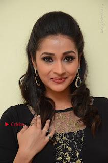 Telugu Actress Manasa Manohar Stills in Black Long Dress at Naku Nene Thopu Turumu Trailer Launch  0056.JPG