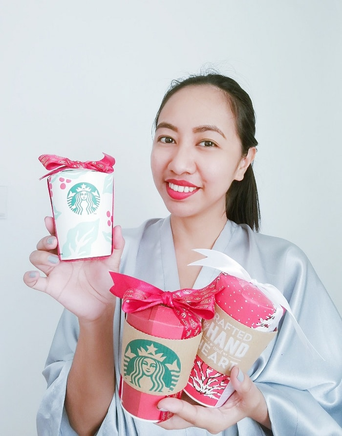 diy christmas gift ideas, recycled paper cups, Starbucks recycle project