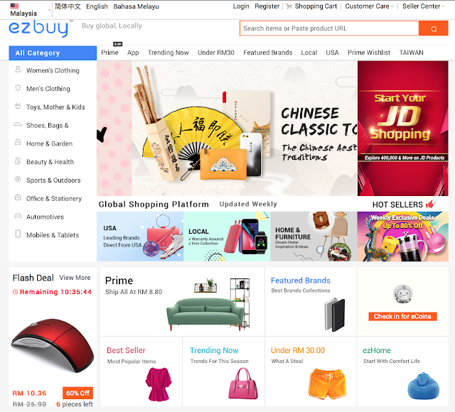 ezbuy Malaysia Shopping Platform - It's Too Easy!