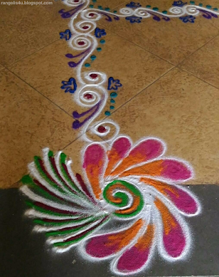 Beautiful Flower Rangolis
