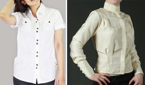 contoh baju kemeja putih orang gemuk