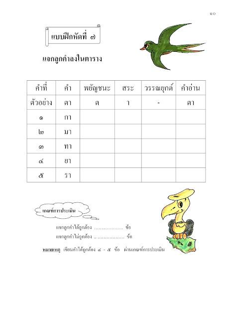 เรียนภาษาไทยตัวต่อตัวที่บ้าน