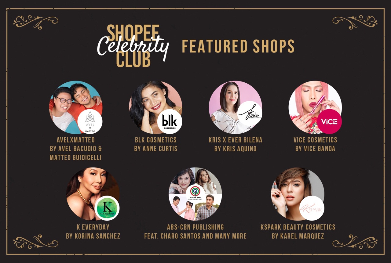 Shopee features stores of your fave Pinoy celebrities
