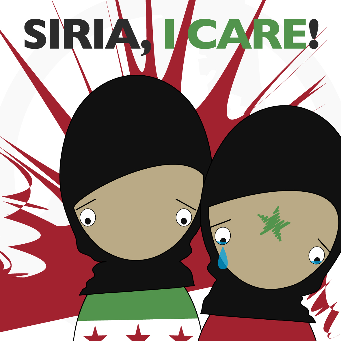 illustrazione Siria, I Care © Anarkikka