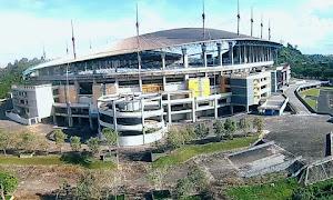 Foto Udara Stadion Megah Palaran di Tengah Hutan Samarinda
