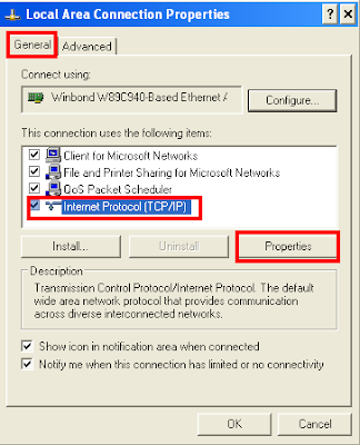 Local Area Network Connection Properties
