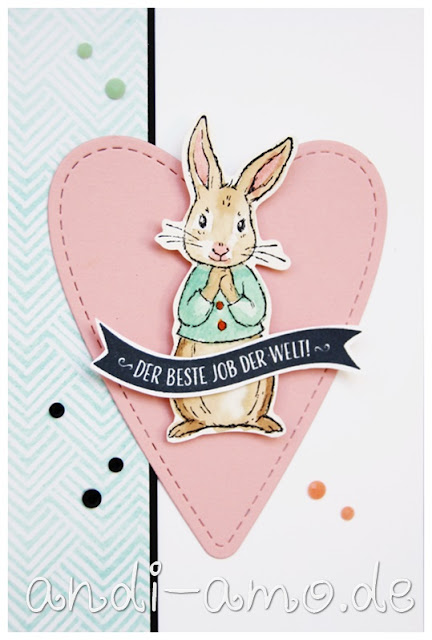 Hase Stampin Up Fable Friends Aquarell