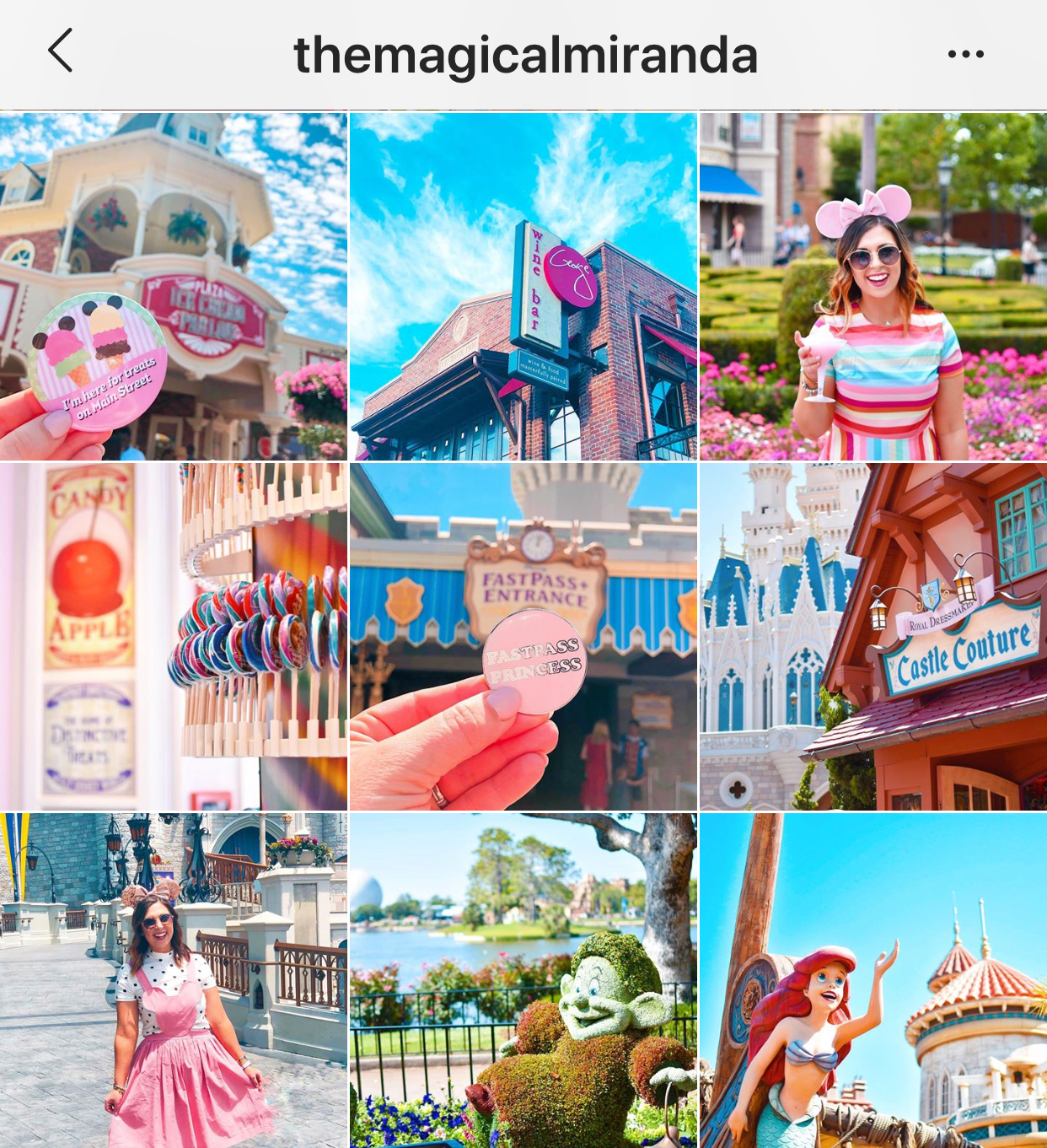 The Magical Miranda instagram