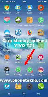 Cara kloning aplikasi VIVO Y83