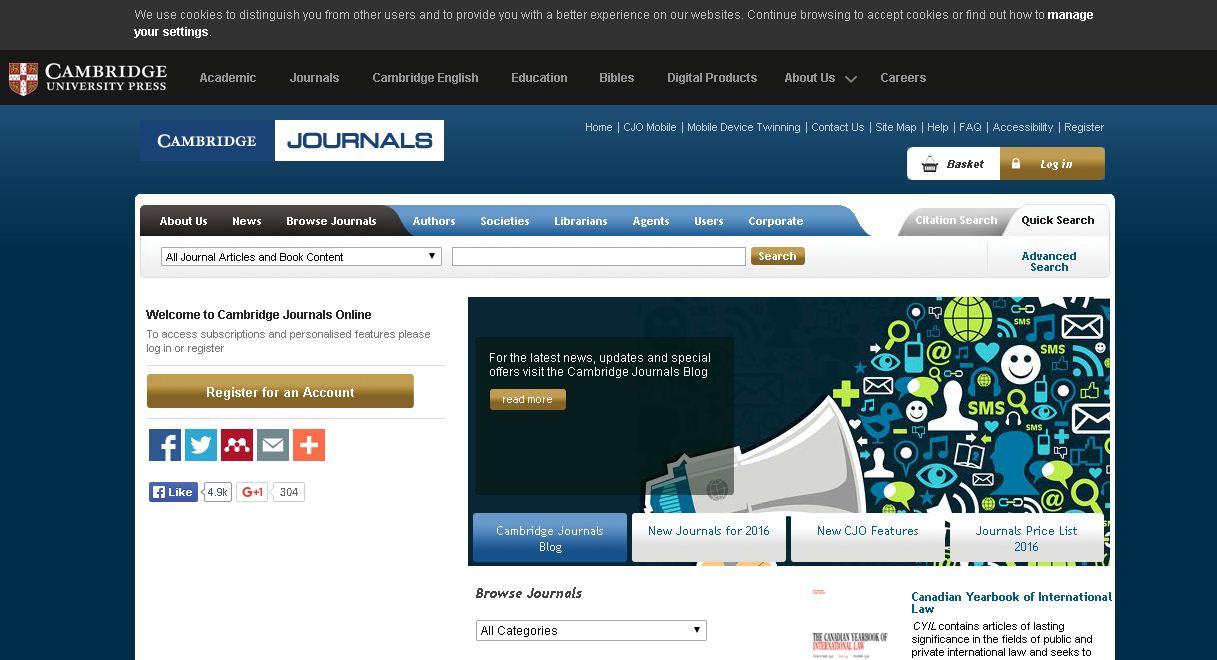 Situs penyedia Jurnal nasional dan internasional