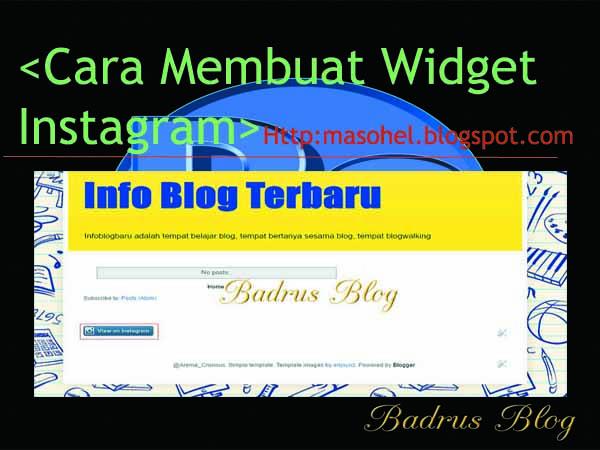 Pasang widget instagram di blog dari link profil instagram kamu