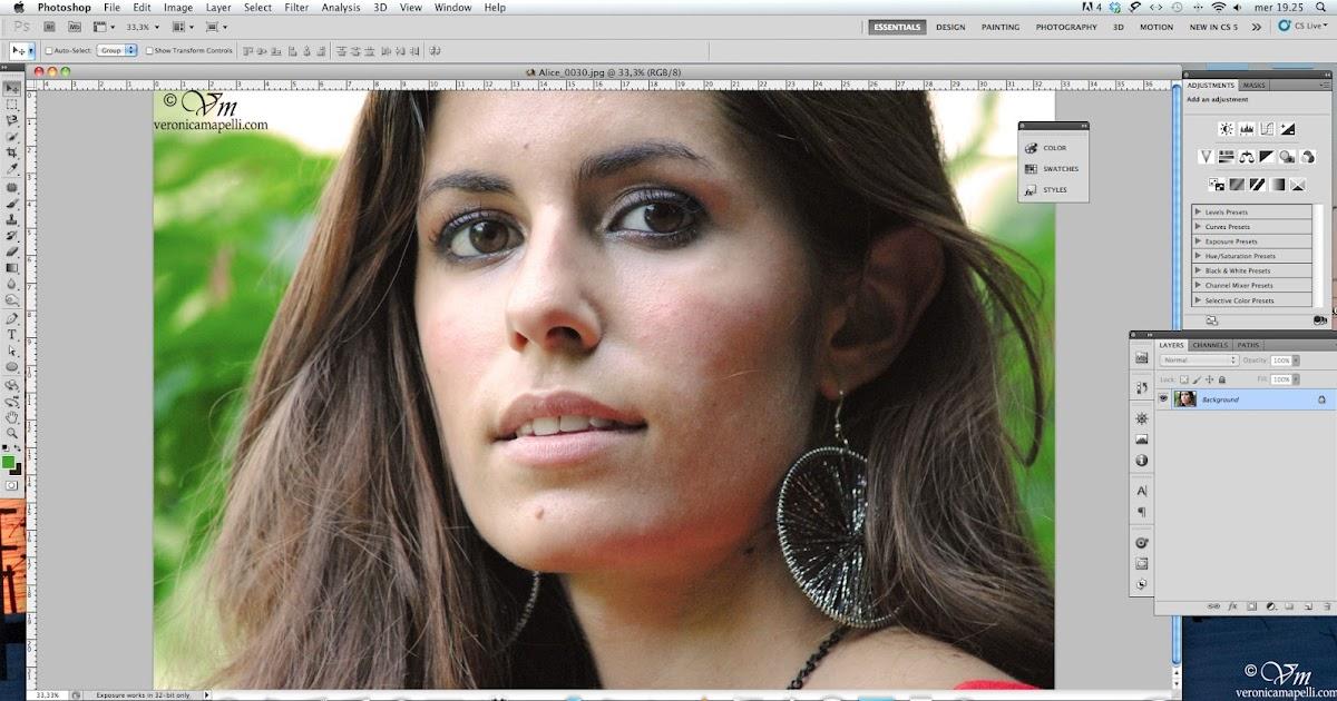 Veronica mapelli photography tutorial photoshop come - Colore degli occhi diversi ...