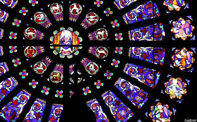 Rosace, église Saint Augustin, Paris
