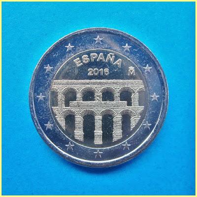 España 2016 2 Euros Acueducto Segovia