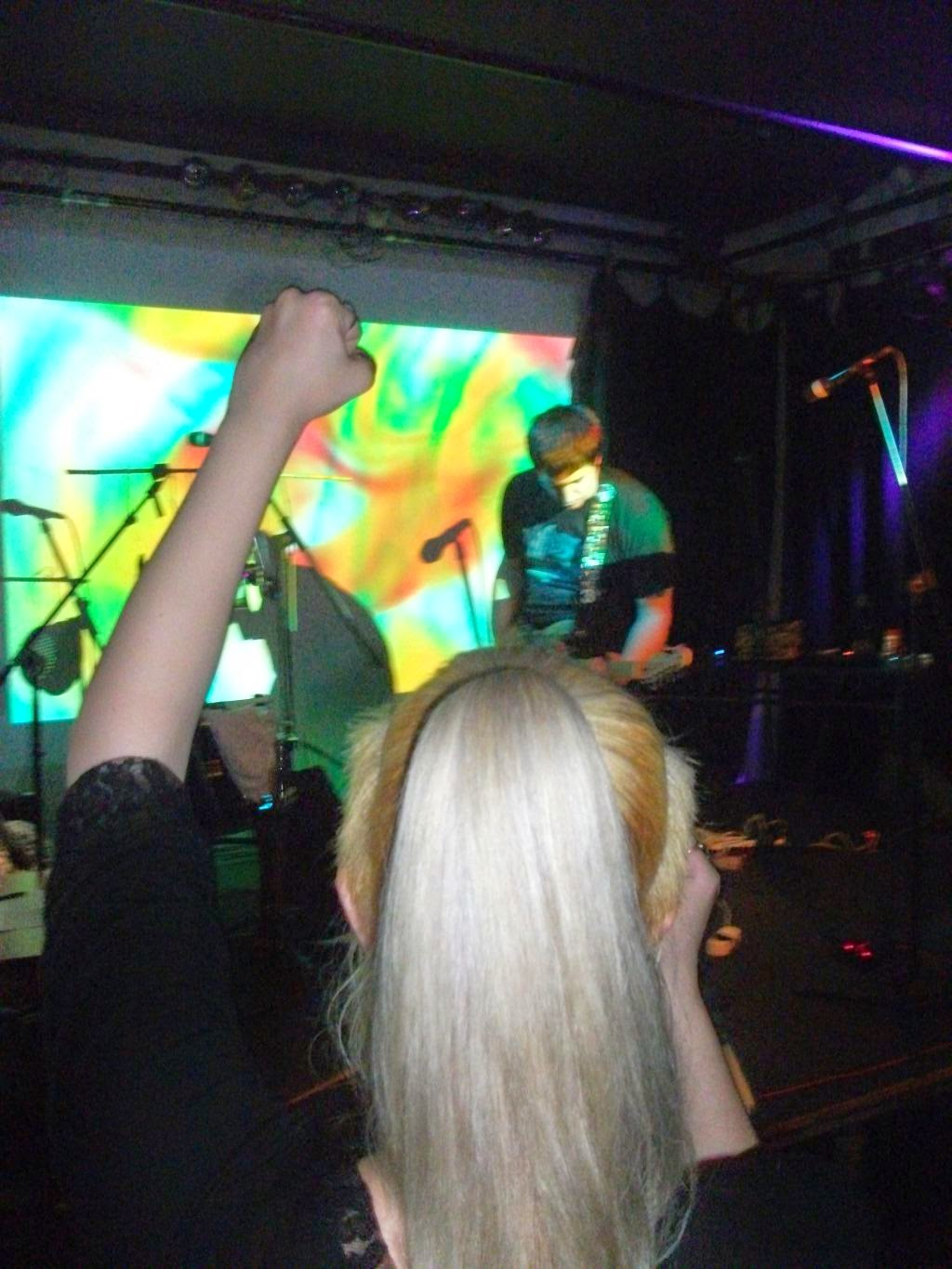 fist in the air while post rock live gig dichotomy engine drone noise